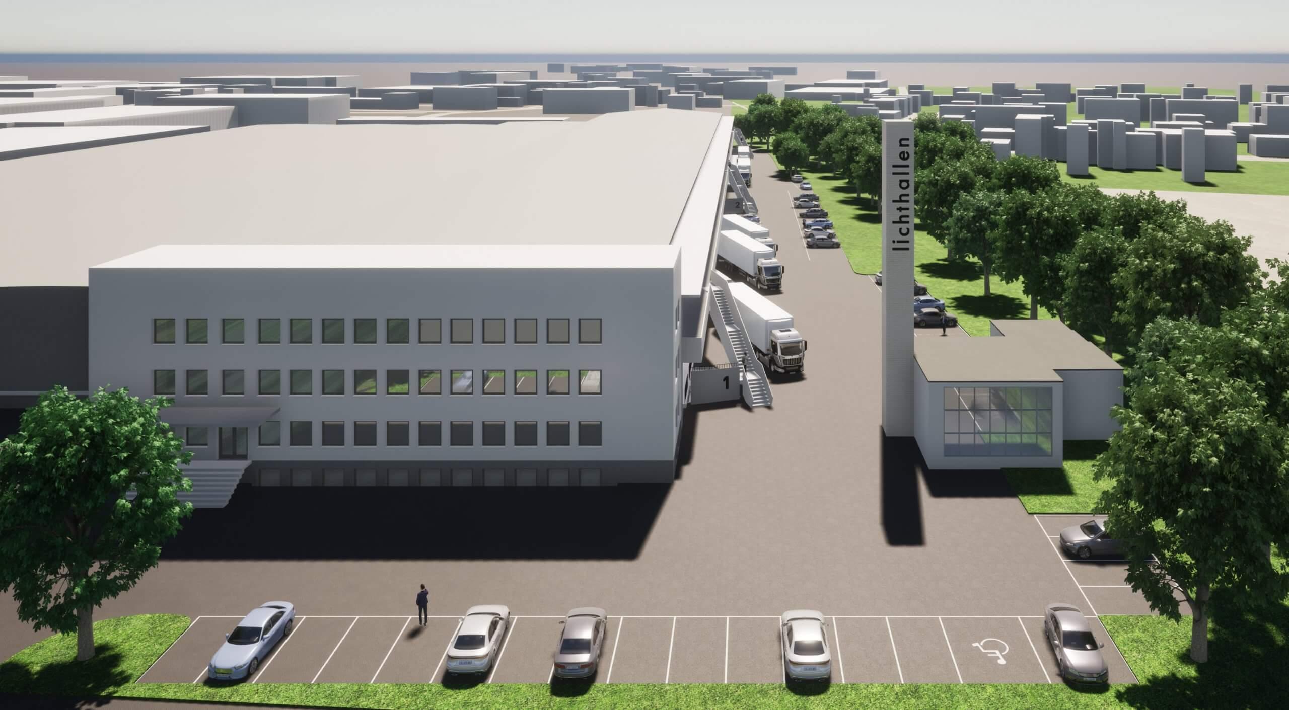 Neugestaltung Erschließung Gewerbepark_BEOS_Haupteingang